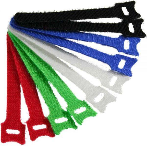 Organizer InLine Rzepy na kable do uporządkowania okablowania, 12x330mm, 5 kolorów, 10 sztuk (59943H) 1