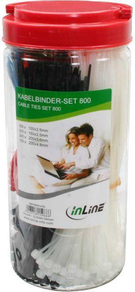 Organizer InLine Opaski zaciskowe na kable Box, 800 sztuk, z obcinaczem (59978B) 1