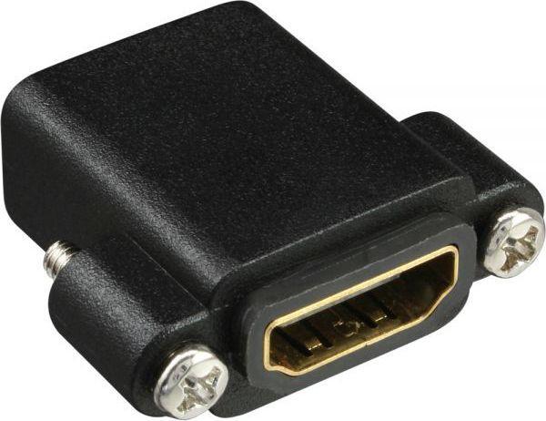 Adapter AV InLine HDMI Typ A żeński - A żeński pozłacany z kołnierzem, 4K2K (17600N) 1