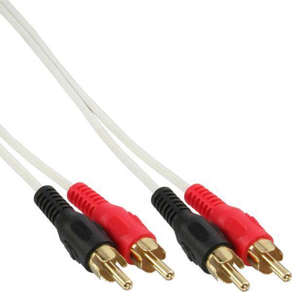 Kabel Intos RCA (Cinch) x2 - RCA (Cinch) x2 5m biały (89938W) 1