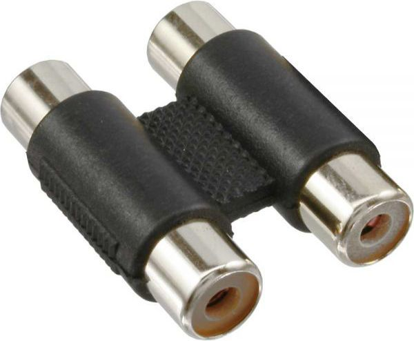 Adapter AV InLine 2x Cinch (F/F) Czarny (99318) 1
