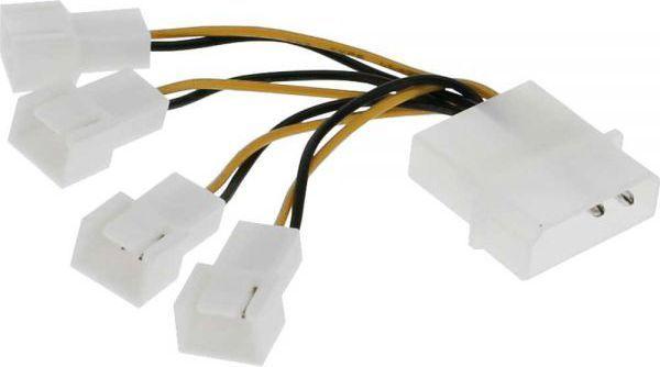 InLine Kabel Molex - 4x 3pin do wentylatorów - 33341A 1