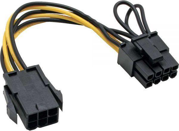 InLine Adapter zasilający 6 Pin - 8 Pin kart PCIe (26626) 1