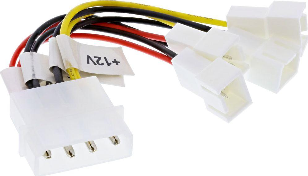 InLine Adapter 2x 12V, 2x 5V dla 4 wentylatorów (33005B) 1