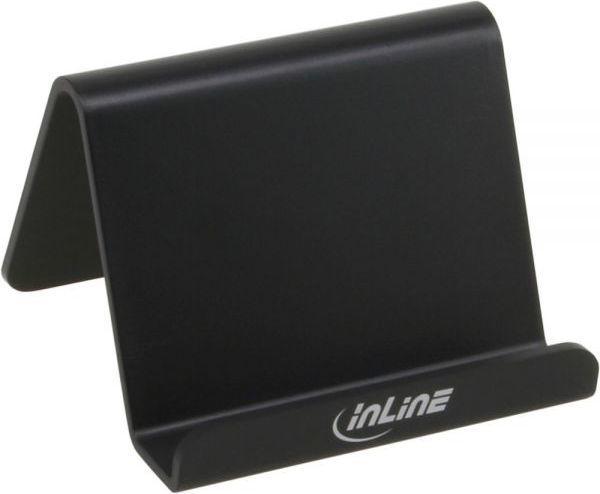 Podstawka InLine Stojak biurkowy na smartfon - czarny (55460S) 1
