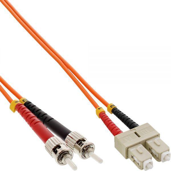 InLine Patchcord światłowodowy SC/ST, 62.5/125µm, OM1, 3m (82603) 1