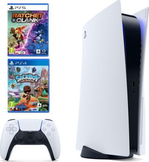 Sony Playstation 5 825GB + Ratchet & Clank: Rift Apart + Sackboy: A Big Adventure 1