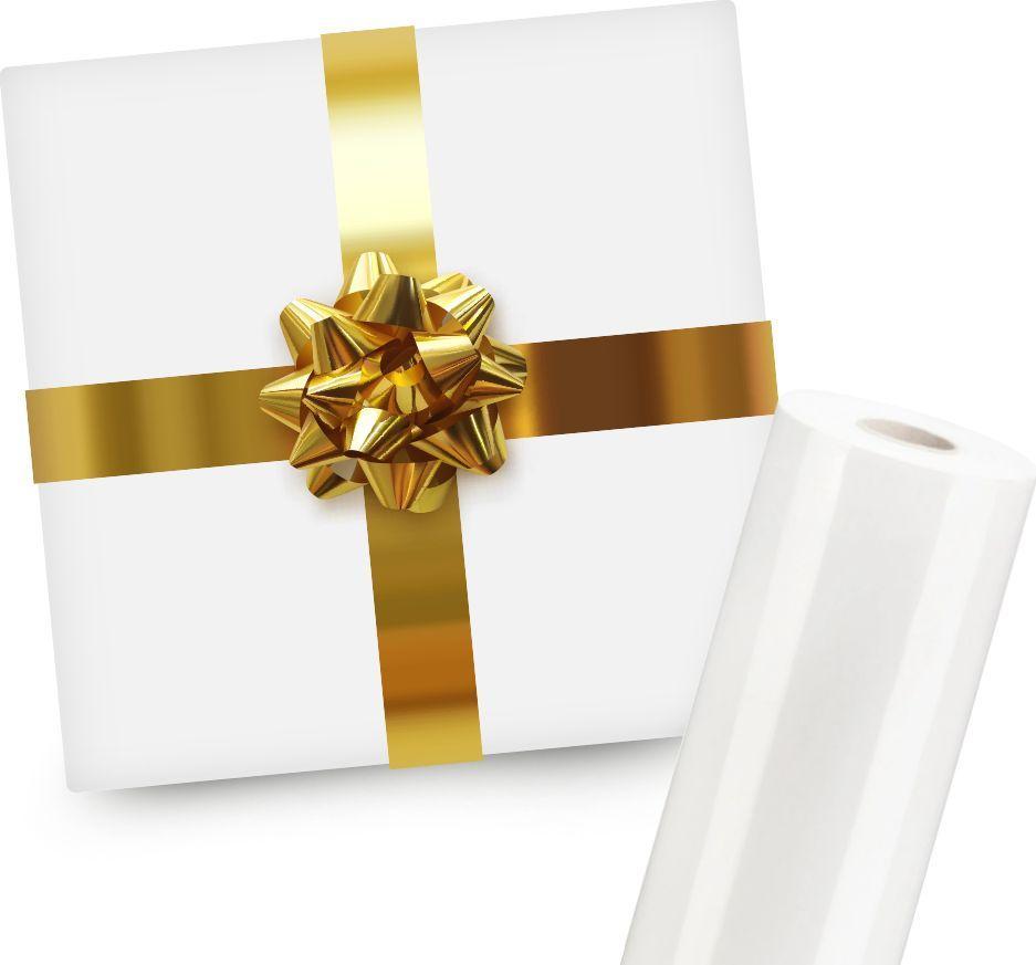 Pakowanie na prezent wybranego produktu (Biały papier ze złotą wstążką) 1