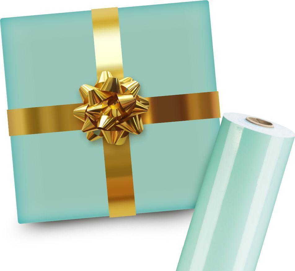 Pakowanie na prezent (Miętowy papier ze złotą wstążką) 1