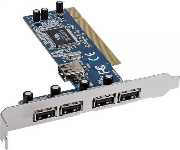 Kontroler InLine PCI - 5x USB 2.0 (66673V) 1