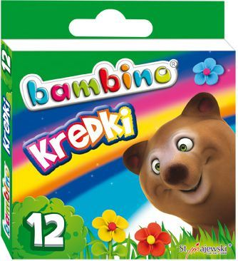 Bambino Kredki BAMBINO, 12 kolorów, licencja BAMBINO 1