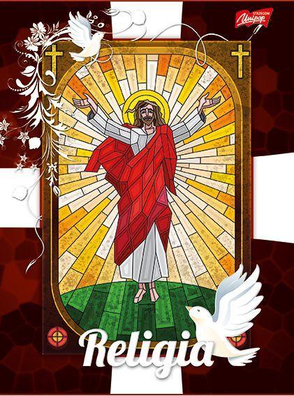 St. Majewski Zeszyt w okładce laminowanej, format A5, 60 kartek, cieniowany, RELIGIA, UNIPAP 1
