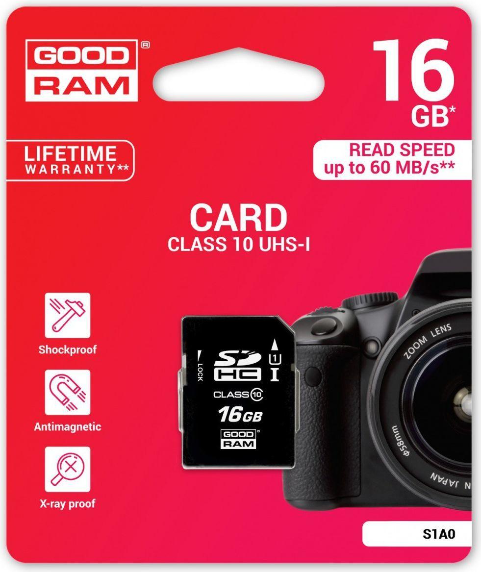 Karta GoodRam S1A0 SDHC 16 GB Class 10 UHS-I  (S1A0-0160R11) 1