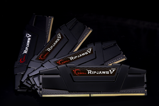 Pamięć G.Skill Ripjaws V, DDR4, 32 GB, 3200MHz, CL14 (F4-3200C14Q-32GVK) 1