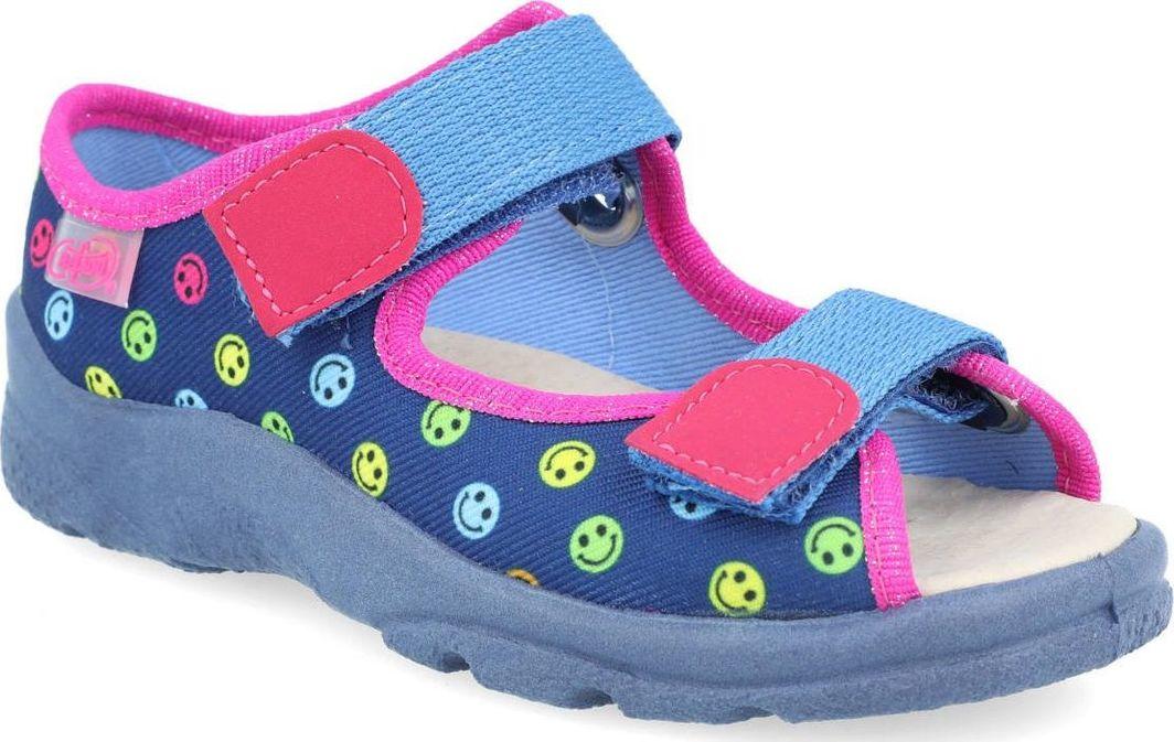 Befado Sandały dziewczęce Befado 869X150 skórzana wkładka uśmiechy 27 1