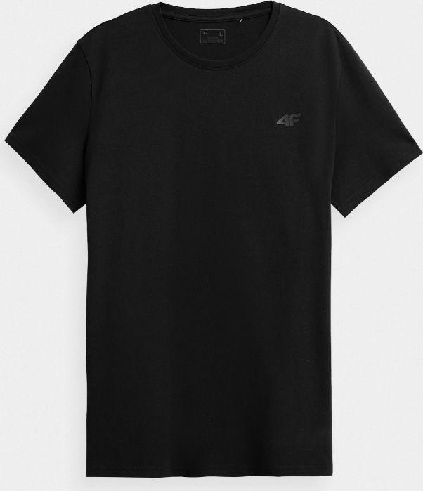 4f T-shirt męski NOSH4-TSM352 GŁĘBOKA CZERŃ r. L 1
