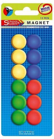 Starpak Magnesy kolorowe 20mm /12szt/ (244150) 1