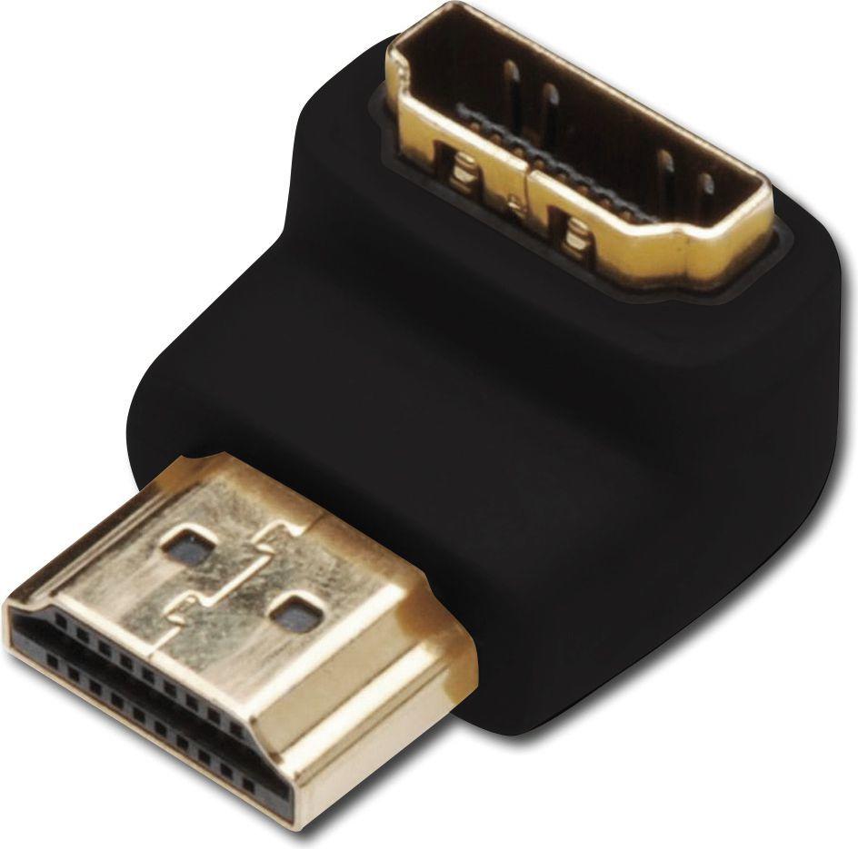 Adapter AV Assmann HDMI A 2.0 HighSpeed z Ethernetem kątowy - HDMI A M/Ż (AK-330502-000-S) 1