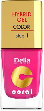 Delia Cosmetics Coral Hybrid Gel Emalia do paznokci nr 03 róż 11ml 1