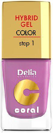 Delia Cosmetics Coral Hybrid Gel Emalia do paznokci nr 05 róż pudrowy 11ml 1