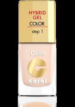 Delia Cosmetics Coral Hybrid Gel Emalia do paznokci nr 20 ivory 11ml 1