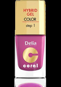 Delia Cosmetics Coral Hybrid Gel Emalia do paznokci nr 21 fuksja 11ml 1