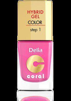Delia Cosmetics Coral Hybrid Gel Emalia do paznokci nr 22 landrynkowy róż 11ml 1