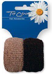 Top Choice Top Choice Akcesoria do włosów Gumki frotki beż-brąz 2 szt 66993 - 6566993 1