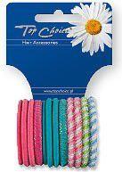 Top Choice Gumki do włosów mix 12szt 21985 1