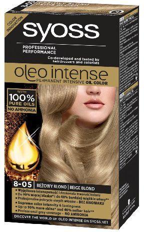 Syoss Farba do włosów Oleo 8-05 beżowy blond 1