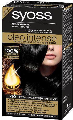 Syoss Farba do włosów Oleo 1-10 intensywna czerń 1