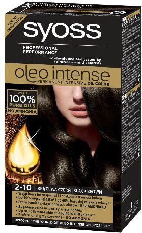 Syoss Farba do włosów Oleo 2-10 brązowa czerń 1