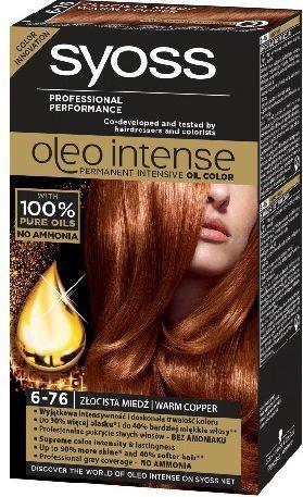 Syoss Farba do włosów Oleo 6-76 złocista miedź 1