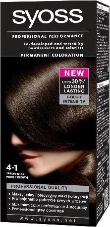 Syoss Farba do włosów Średni Brąz nr 4-1 1