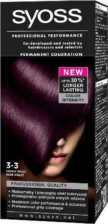 Syoss Farba do włosów Ciemny Fiolet nr 3-3 1