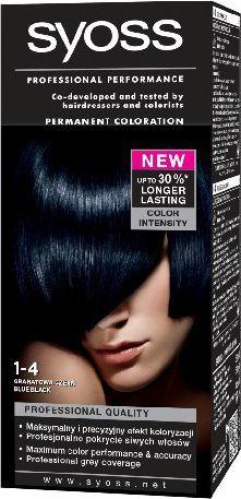 Syoss Farba do włosów Granatowa Czerń nr 1-4 1