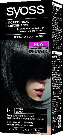 Syoss Farba do włosów Czerń nr 1-1 1