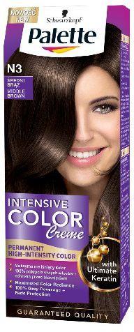 Palette Intensive Color Creme Krem koloryzujący nr N3-średni brąz 1