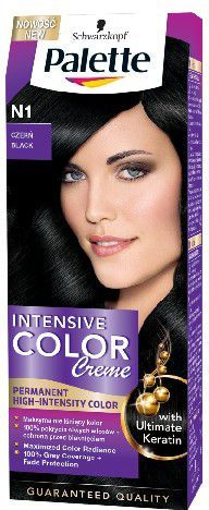 Palette Intensive Color Creme Krem koloryzujący nr N1-czerń 1