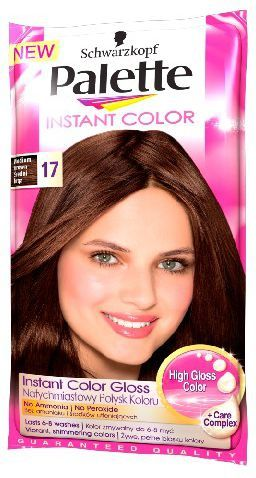 Palette Instant Color Szamponetka koloryzująca Średni Brąz nr 17 25 ml 1