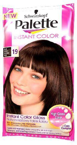 Palette Instant Color Szamponetka koloryzująca Ciemny Brąz nr 19 25 ml 1