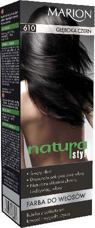 Marion Farba do włosów Natura Styl nr 610 głęboka czerń - 78610 1