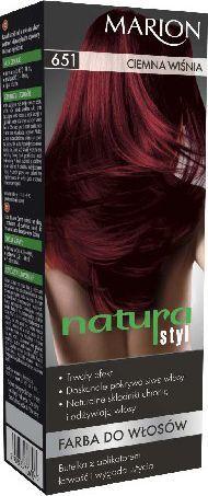 Marion Farba do włosów Natura Styl nr 651 ciemna wiśnia - 78651 1