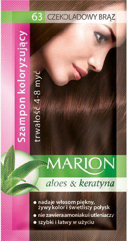 Marion Szampon koloryzujący 4-8 myć nr 63 czekoladowy brąz 40 ml 1