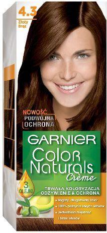 Garnier Color Naturals Krem koloryzujący nr 4.3 Złoty Brąz 1