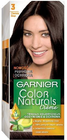 Garnier Color Naturals Krem koloryzujący nr 3 Ciemny Brąz 1