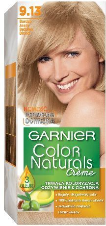 Garnier Color Naturals Krem koloryzujący nr 9.13 Bardzo Jasny Beżowy Blond 1