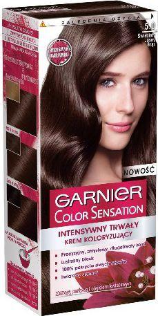 Garnier Color Sensation Krem koloryzujący 5.0 Light Brown- Świetlisty jasny brąz 1