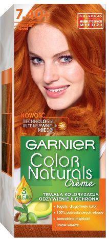 Garnier Color Naturals Krem koloryzujący nr 7.40 Miedziany Blond 1
