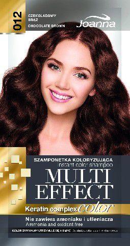 Joanna Multi Effect Color Keratin Complex Szamponetka 12 Czekoladowy Brąz 35 g 1